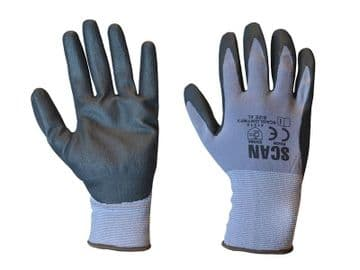Breathable Microfoam Nitrile Gloves - L (Size 9)
